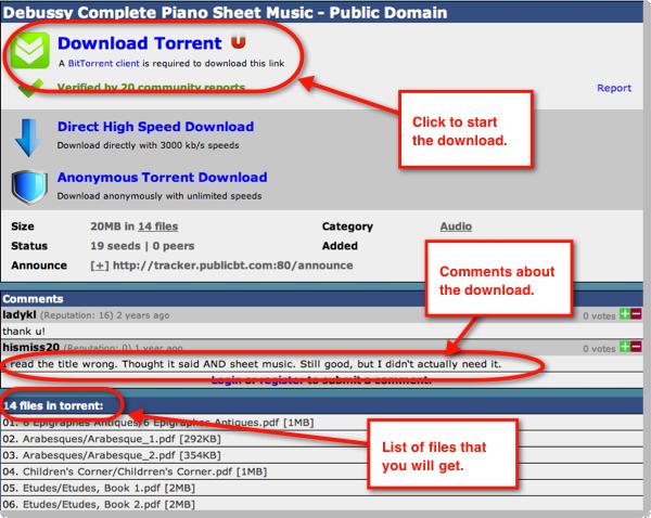 Download torrent file