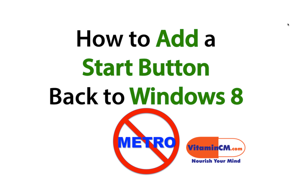 Add start button windows 8