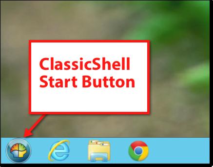 Classicshell start button