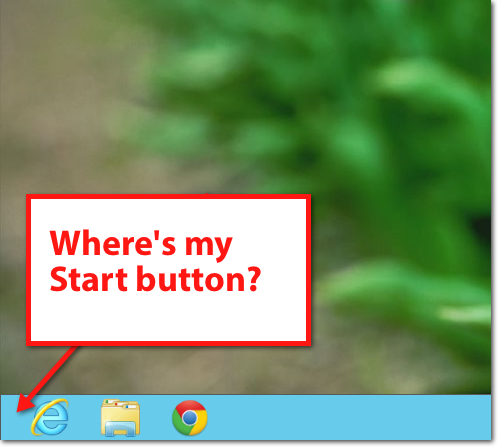 Windows 8 no start button