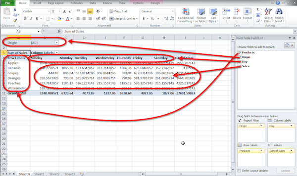 Excel pivot table tutorial 05