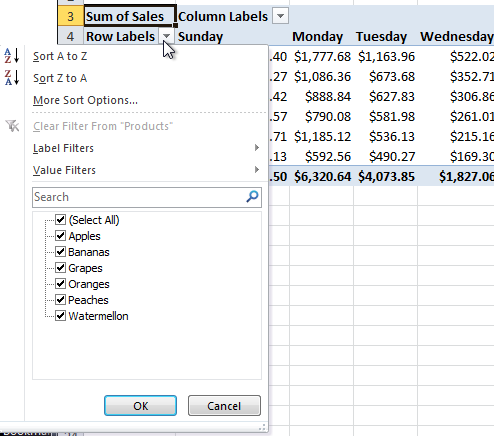 Excel pivot table tutorial 10