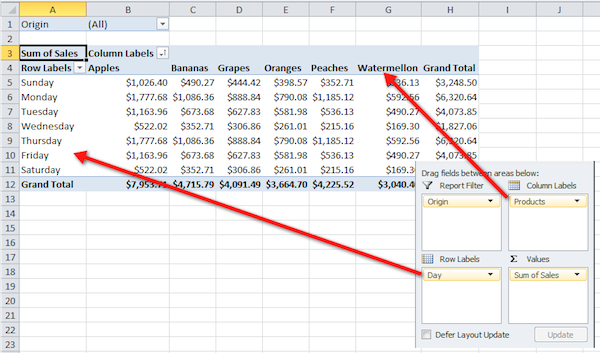 Excel pivot table tutorial 14
