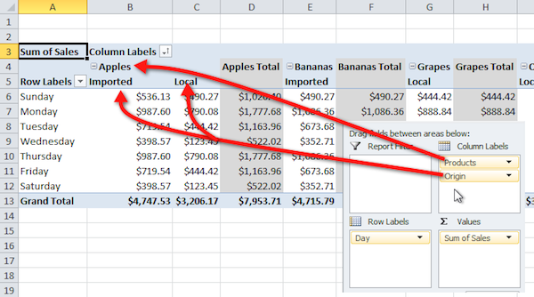 Excel pivot table tutorial 17